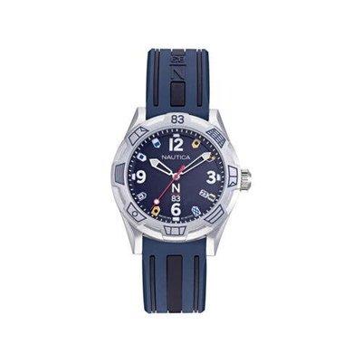 Nautica 男士手錶 NAPPOF915 N83 37毫米 藍色錶盤 矽膠手錶