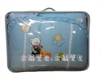 @企鵝寶貝二館@ 大熊拉小熊純棉七件組/七件式寢具組.嬰兒床組L(大床適用)