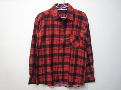 RIVET 紅/黑 格紋 長袖襯衫/S