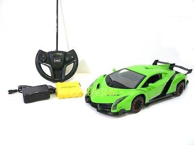 Mini酷啵玩具館~1/ 16  1:16 充電版-仿真外型毒藥藍寶堅尼遙控車 遙控跑車~綠色 桃園市