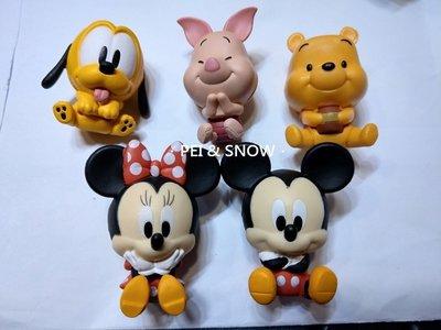 另開賣場 折5元 現貨 扭蛋 迪士尼 米奇 米妮 布魯托 維尼 小豬 公仔夾 全5款