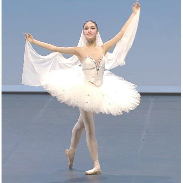 5Cgo【鴿樓】會員有優惠 531132876790 芭蕾舞成人裙芭蕾舞蹈裙紗裙白蓬蓬天鵝湖專業體操演出表演比賽服