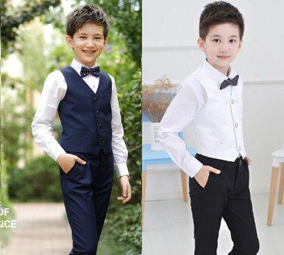 現貨+預購:男童禮服、超值四件套裝~花童、表演服;馬甲+長褲+領結+襯衫組合100~150下單處