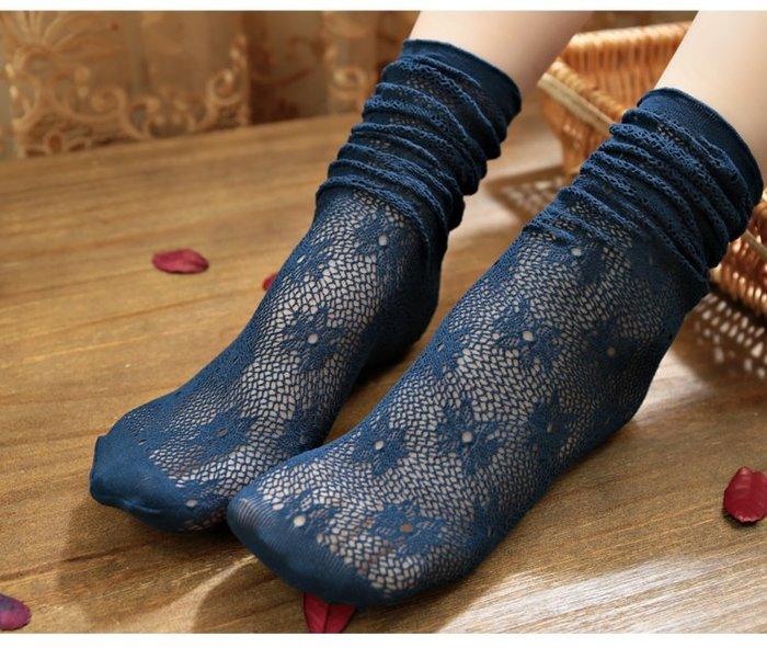 *╮S.water shop╭* 復古簍空 中筒襪蕾絲花邊堆堆襪涼鞋襪 FN#00275-5 共8色  (現貨)