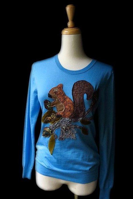 *Beauty*DOLCE&GABBANA藍色松鼠長袖針織衫  16800元WE17 原價近3萬台幣