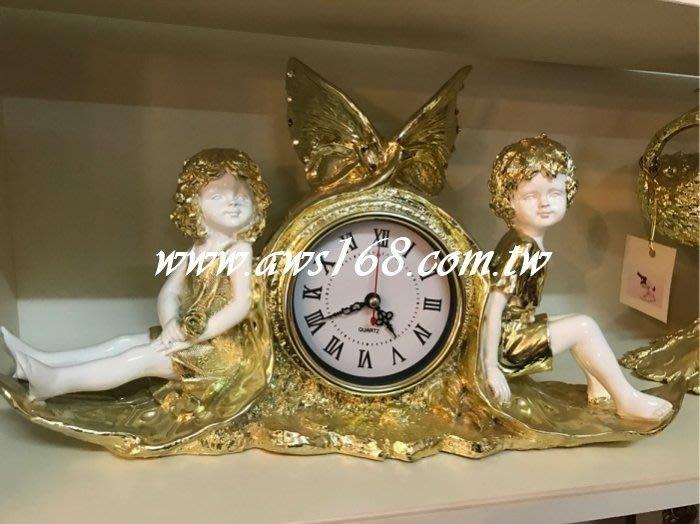 雙天使桌鐘