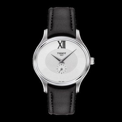 Tissot 天梭臻時系列皮帶石英女腕錶 T1033101603300