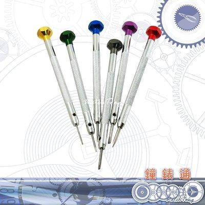 【鐘錶通】10B.2101 高級彩頭組螺絲起子組_六支入_鐘錶眼鏡專用├鐘錶眼鏡工具/五金工具┤