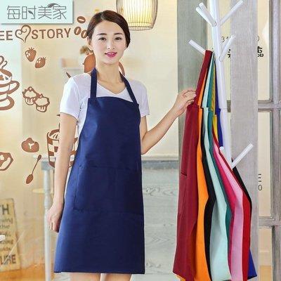 每時美家無袖防水圍裙做飯廚師罩衣 服務員廣告圍裙印刷定做LOGO