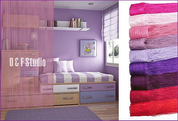 居家達人: 素色線簾3M寬x2.8M長(加密) / 有多種顏色可供選擇/門簾/窗簾/室內隔間/玄關,滿888免運費!