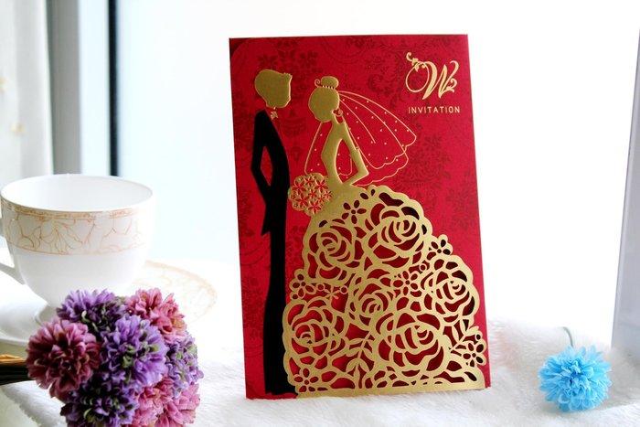 『潘朵菈精緻婚卡』影像設計喜帖 ♥ 古典雅緻18元喜帖系列 ♥ 喜帖編號:HC-55010╭*