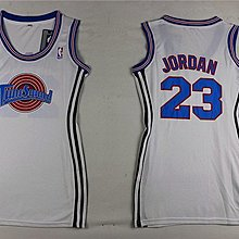 Chicago Bulls公牛隊#23號 Michael Jordan 麥可.喬丹 喬登 球衣 空中大灌藍白 女款收腰