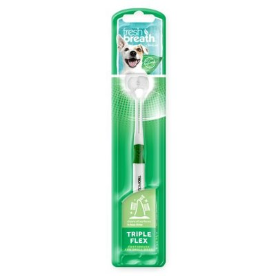 *COCO*鮮呼吸Fresh breath三刷頭牙刷(小型犬專用)S號犬貓適用口腔清潔寵物牙刷