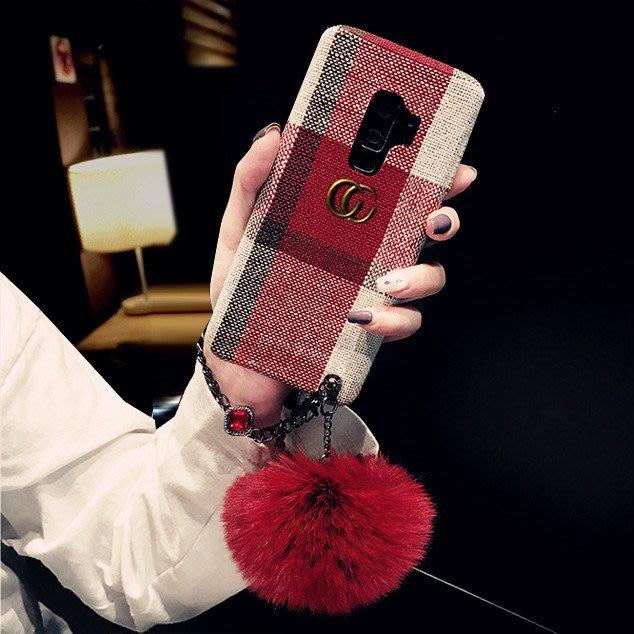 s8手機殼保護套保護殼正韓國版毛球三星note9手機殼女s9plus個性絨布s9潮牌s8plus手鏈note8網紅11-