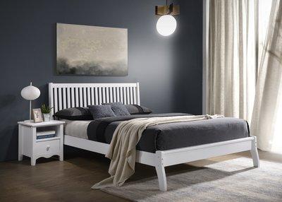 #2019新品【肯尼斯頓】安妮5尺白色雙人床(JF11247)