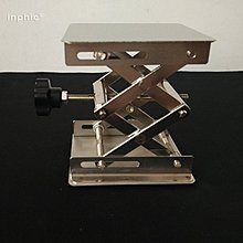 INPHIC-不鏽鋼升降台 15*15cm 150*150mm 手動 高度調整控制  昇降台 昇降平台 升降平台