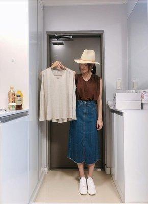 『Golden WEEK 30/30』--韓國連線--類棉麻下擺傘狀薄料背心