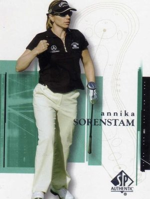 曾雅妮 索倫斯坦 裙擺搖搖 LPGA Annika Sorenstam 2005 GOLF #2 僅此一張