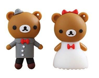 結婚小熊 含鐵盒  隨身碟8G 新郎 新娘款 婚禮小物回禮  情人節禮物 生日送禮 紀念品