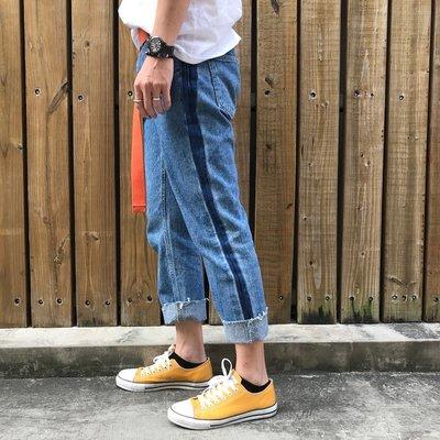 【inSAne】Korea Select / 牛仔褲 / 九分褲 / 大反摺 / 單寧藍 / S M L