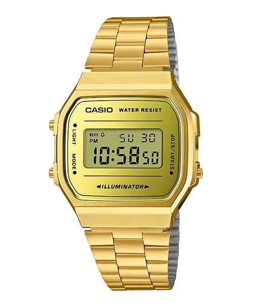 【元電】【CASIO 專賣】A168WEGM-9 經典且復古的設計 新色中提供了五種配色選擇,不繡鋼錶帶色系