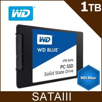 【捷修電腦。士林】全新盒裝 WD 藍標 BLUE 1TB 2.5吋 SATAIII SSD 抗漲首選 $8800