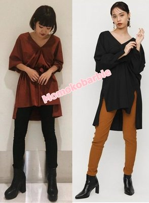 ☆搖滾甜心【AD4359】日本早秋AW新款日單SLY murua MOUSSY個性設計襯衫洋裝上衣