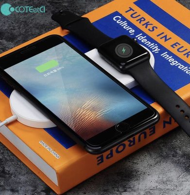 COTEetCI Daul Wireless fast Charger  Apple Watch 無線充電器