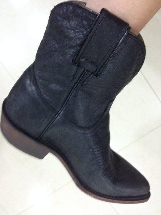 全新 FRYE BILLY SHORT 西部短靴 黑灰色 SZ6.5 含國際運費7000 商品在台灣