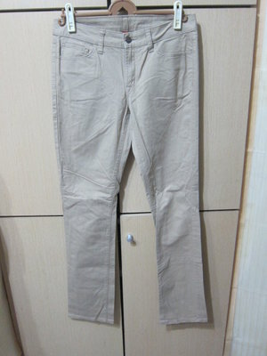 衣市藍~UNIQLO SKINNY FIT STRAIGHTS女休閒長褲(W27~160/68A)(428)200910