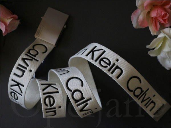 美國真品保證 Calvin Klein CK卡文克萊 白色百搭休閒皮帶 腰帶 童軍皮帶 S號 M號 愛COACH包包