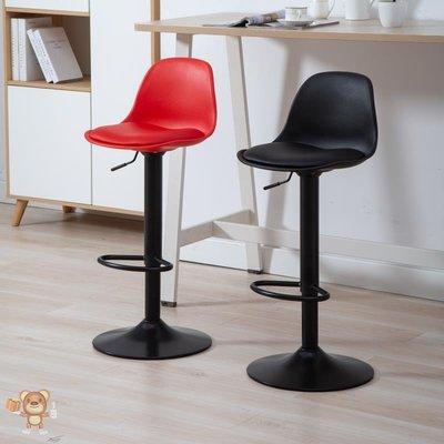 吧檯椅solid wood backrest bar chair rise fall swivel high stool