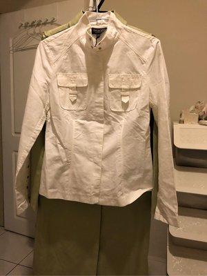 正品全新EPISODE(白USA6)棉麻外套上衣⋯特價出清