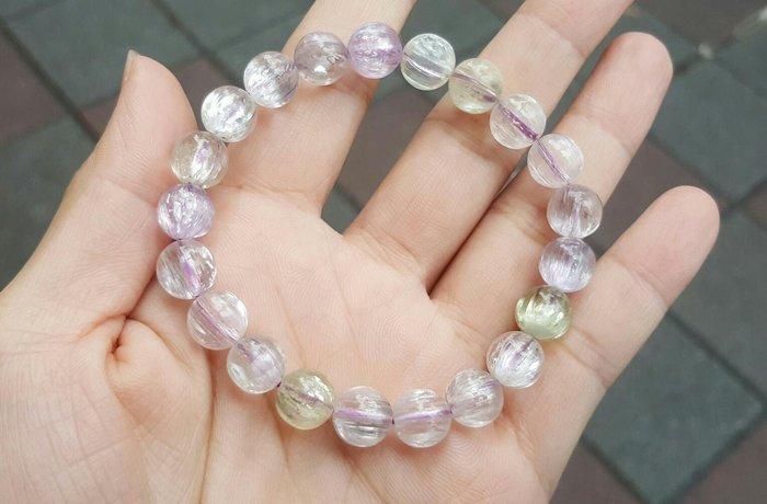 【天然水晶礦石】 透體 紫鋰輝 手鍊