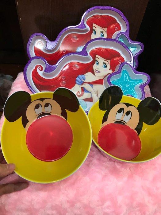 現貨 美人魚 米奇 米妮 micky 愛麗兒 艾莉兒 公主 餐盤 餐具 迪士尼樂園