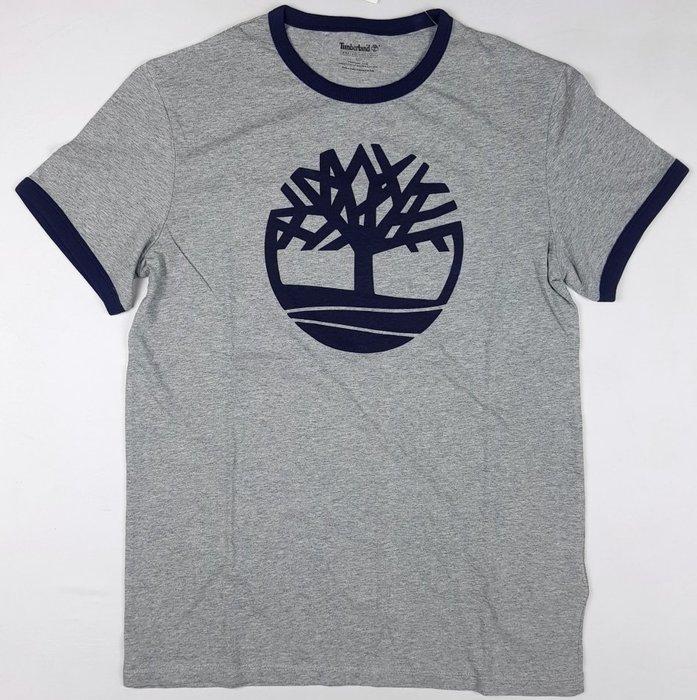 特價699元~☆ 瘋加州 ☆ Timberland 燙印大樹LOGO 灰色男短Tee T恤 S/L