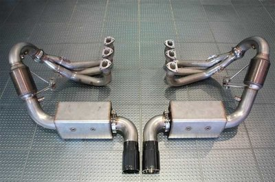 【汽車零件王】 AWE 997 GT3 Full 排氣管 系統 - 拋光銀 尾飾管