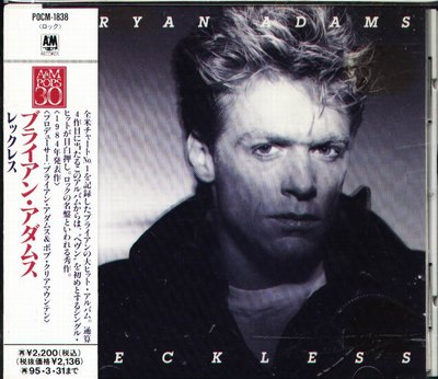 K - Bryan Adams - Reckless - 日版 +OBI