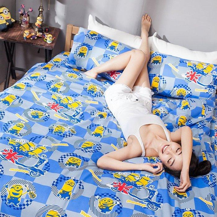 床包被套組 / 雙人加大【小小兵壞蛋來了】含兩件枕套  迪士尼授權  高密度磨毛布  戀家小舖台灣製ABF312