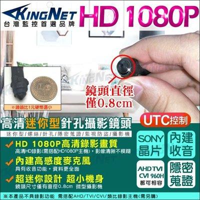 監視器 微型針孔攝影機 SONY晶片 內建麥克風 AHD TVI CVI 1080P 超迷你鏡頭 密錄蒐證 新北市