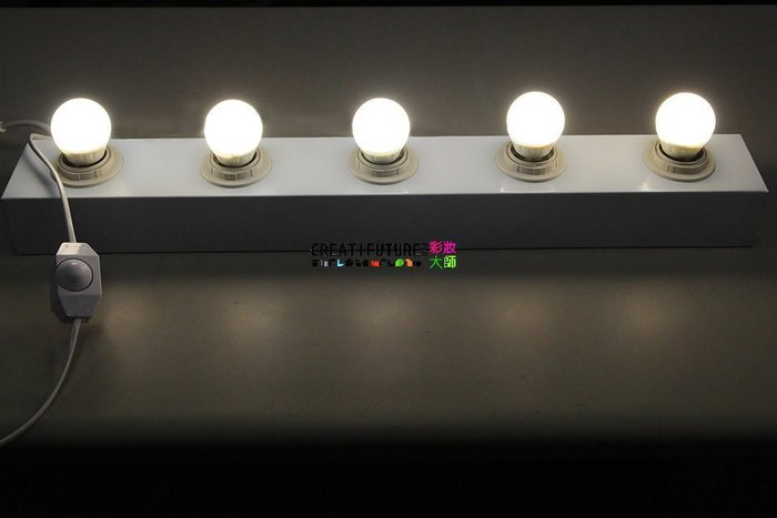 台灣製造設計師鐵製80公分六孔可調光燈座 3w可調光LED燈 化妝鏡化妝燈 化妝台 居家裝潢 浴室 造型工作室 髮型店