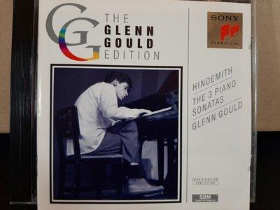Gould,Hindemith-The 3  piano Sonatas,顧爾德鋼琴,彈奏亨德密特-3首鋼琴奏鳴曲,如新。