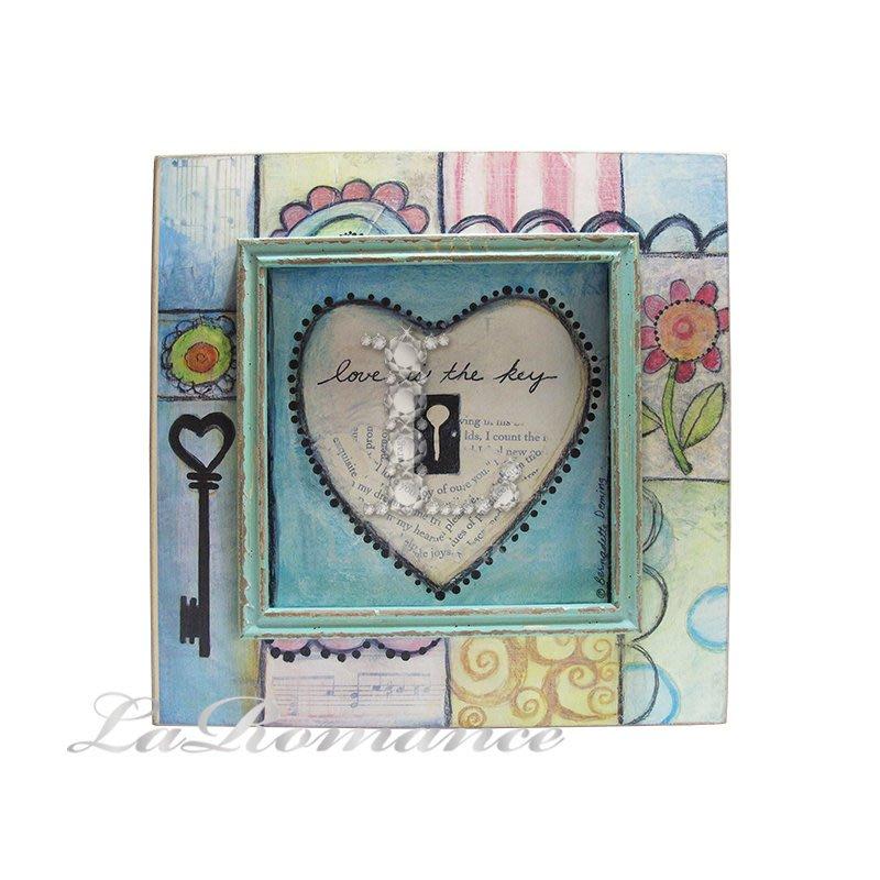 【芮洛蔓 La Romance】花言童語系列 - 愛心鎖木板畫飾 / 掛飾 / 畫飾