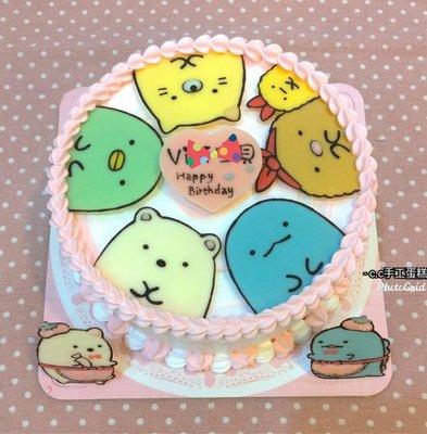 *CC手工蛋糕*-  角落生物 6吋 (不含兩旁飾片)造型蛋糕 生日蛋糕 (板橋中和,中和環球購物中心旁)