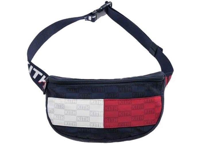【紐約范特西】預購 Kith x Tommy Hilfiger Badge Cross Body Bag Navy 肩包