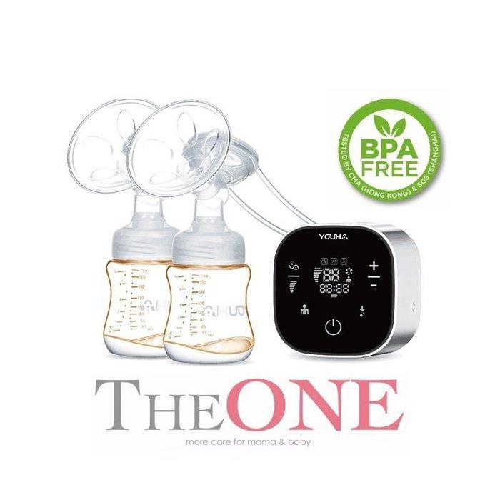 【免運】YOUHA優合 THE ONE 充電式電動吸乳器 含保冷袋冰寶 PPSU奶瓶 可雙邊 臺灣一年保固送免費吸力檢測