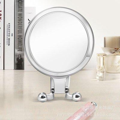 『化妝鏡』小鏡子粉刺痘痘折疊鏡化妝品補妝圓鏡金屬美容院包包隨身鏡放大鏡十倍放大鏡子