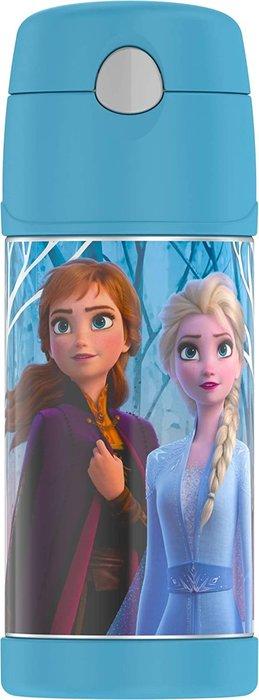 預購 美國 THERMOS 膳魔師 Frozen 2 冰雪奇緣 藍色 不鏽鋼吸管式水壺 保溫杯 保冷杯 兒童水壺 保溫瓶