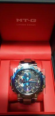 CASIO G-SHOCK 35週年 35th 手錶 紀念錶 MTG B1000VL 4A  火山雷 彩鈦 鈦金屬 電鍍 藍寶石 太陽能 六局電波 日本製 彩色