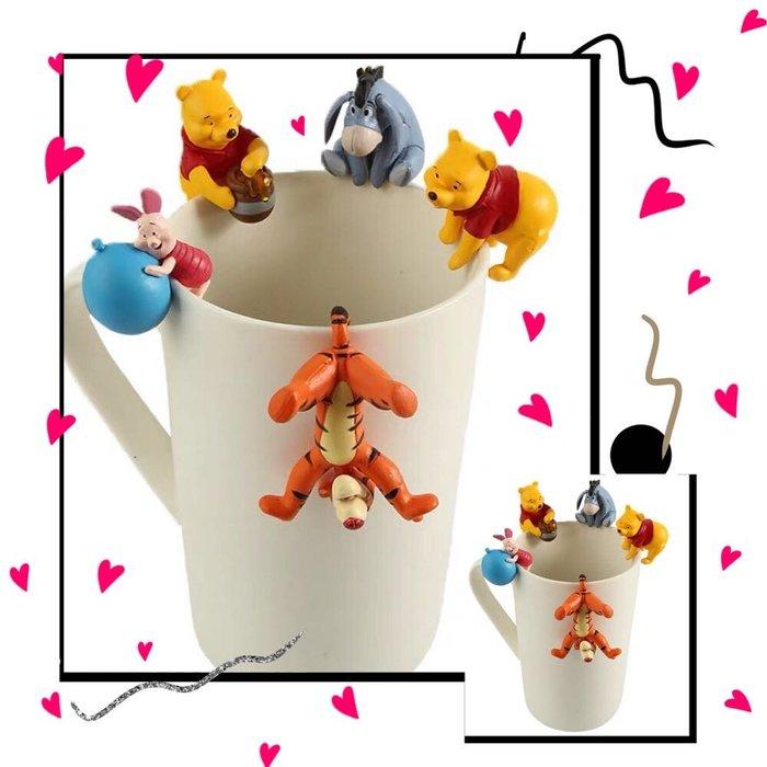 杯緣子 好朋友 Disney 迪士尼 小熊維尼 Winnie 維尼熊 跳跳虎 小豬 屹耳 維尼 好伙伴 公仔 擺件 玩具 盒玩 克里斯多福.羅賓 驢子 瑞比